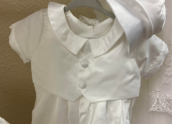 boy christening /baptism outfit cap and sox included
