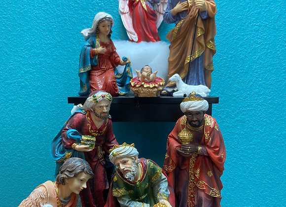 "11 piece nativity 12 "" EACH ,HAND PAINTED"