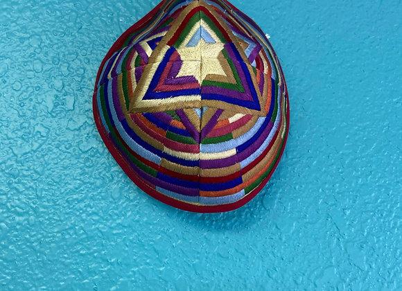 Yair Emanuel star of David Embroidered Mosaic Design Kippah