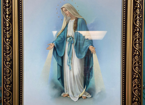 framed picture of virgin mary