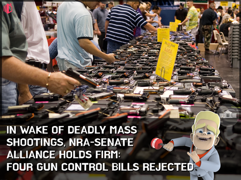 Eight days after Orlando shootings, US Senate rejects gun control bills