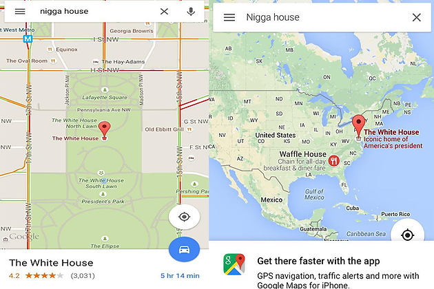 Google Maps vandalism gets outrageously as 'n-word ... on google strengths, google maps logo, technology word map, advertising word map, semantic word map, world word map, social media word map, twitter word map, google word search, four square word map,