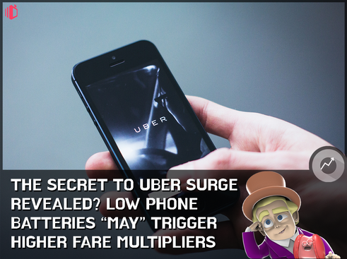 "Amidst recent Toyota MOU, Uber opens up about surge pricing: Low phone batteries ""may"" lea"