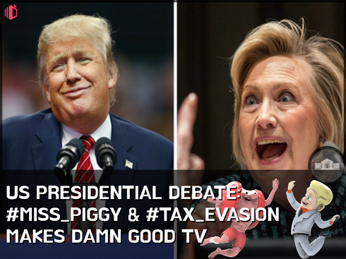 W.T.F(WonderfullyTactless&Forward) bake on the US Presidential Debate