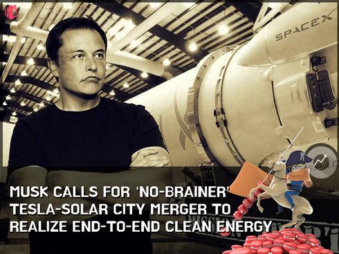 $3 billion Tesla-SolarCity merger sets motion to Musk's vision of clean-energy juggernaut