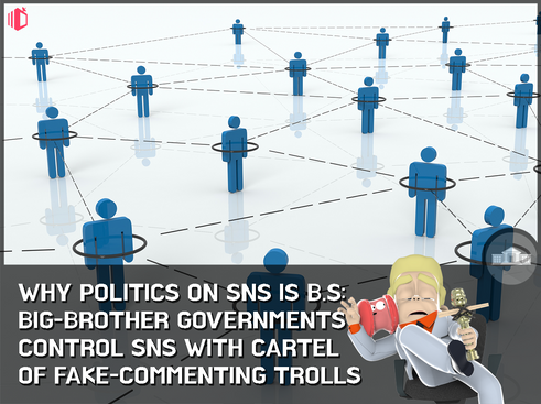 A government-coalition of fake SNS posts: Chinese gov. moles post 500mil comments a year to sway onl
