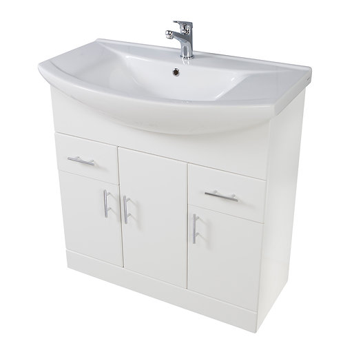 Lanza 950 Floor Cabinet Gloss White