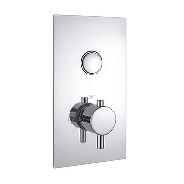 Single Round Push Button Concealed Valve