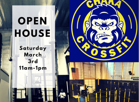Chaka CrossFit Open House--March 3rd