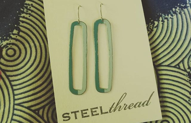 Love my @steelthread_art earrings from @artspacenc. Happy Mother's day to me! #showsomelocallo