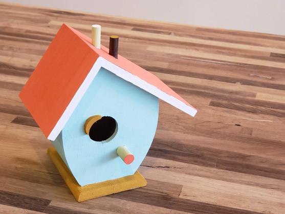 kids crafts - paint a birdhouse
