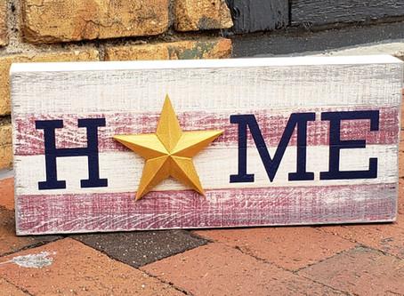 DIY Painted Wood HOME Sign Tutorial