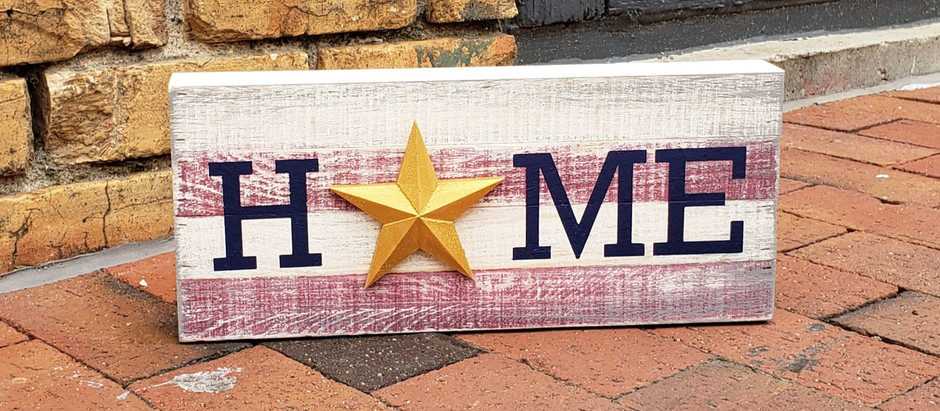DIY Painted Wood HOME Sign Tutorial
