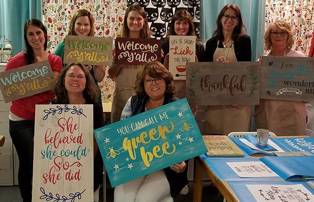 Amazing signs made by amazing ladies! #imadeit #hatchyourcreativity #showsomelocallove #creativerale