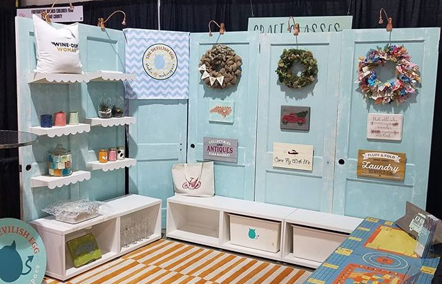 The booth is coming together! Come see it at the Southern Women's Show starting Friday. #south