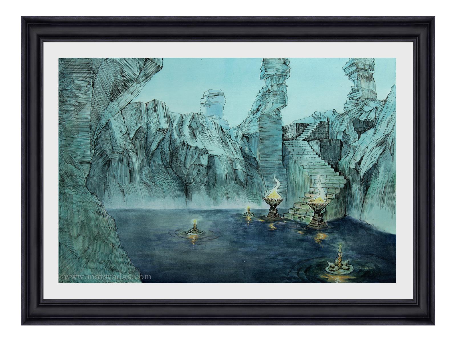 Lake of Rememberance - Original Painting, US$595,00