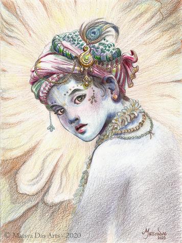 Curious Little Krishna
