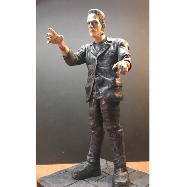 Frankenstein figurine - assembly and paint-up