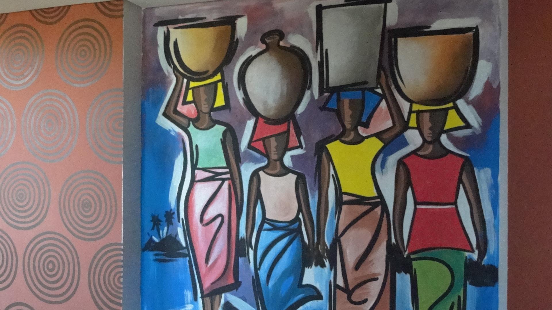 Pintura en las paredes.