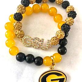 Jeweled GSU Bracelet