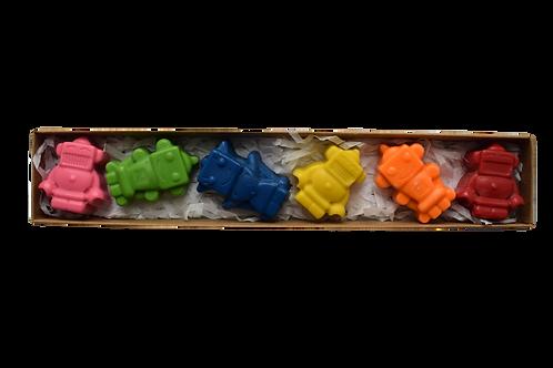Small robot crayons
