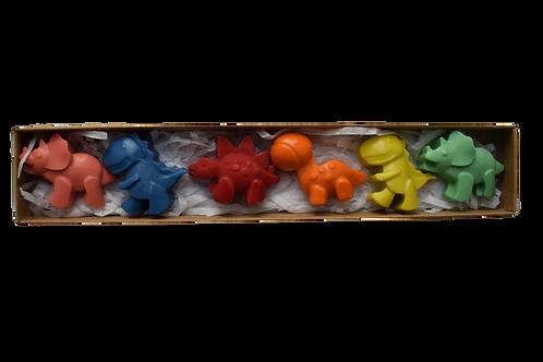 Small dinosaur crayons