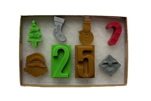 Christmas crayons & numbers