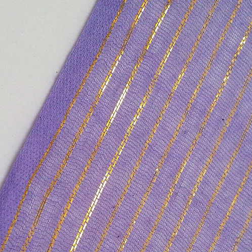 Lavender with Gold Sparkle 5 yard