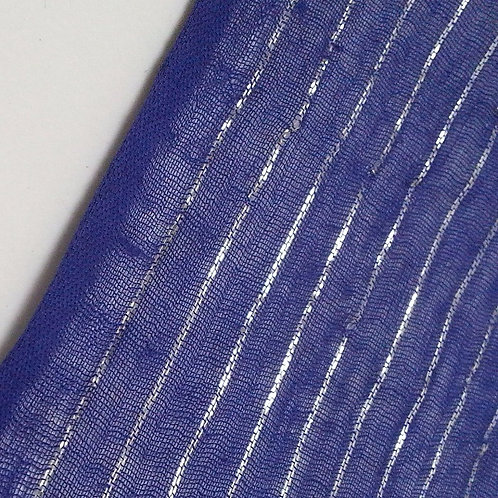 Blue with Silver Sparkle 6 yard