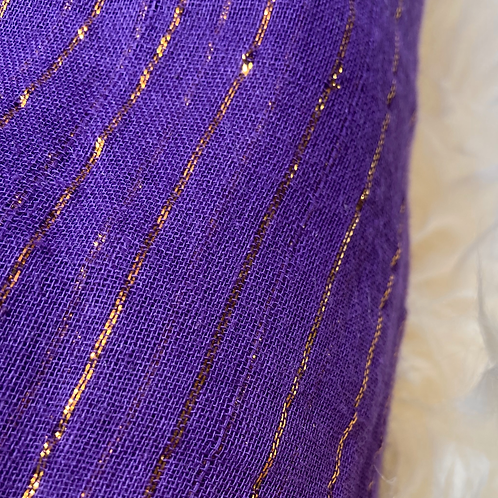 Purple with Gold Sparkle 6 yard