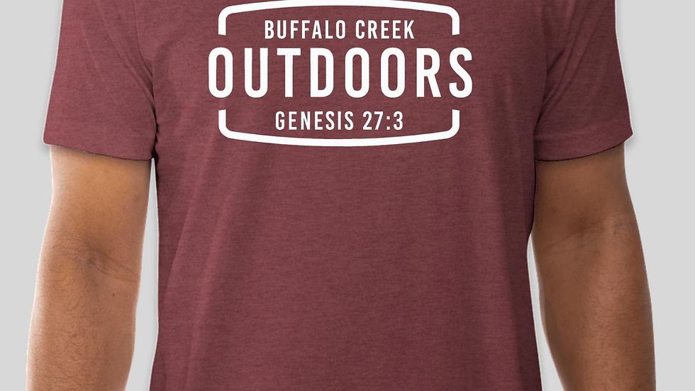 BUFFALO CREEK OUTDOORS T-Shirt (Maroon)