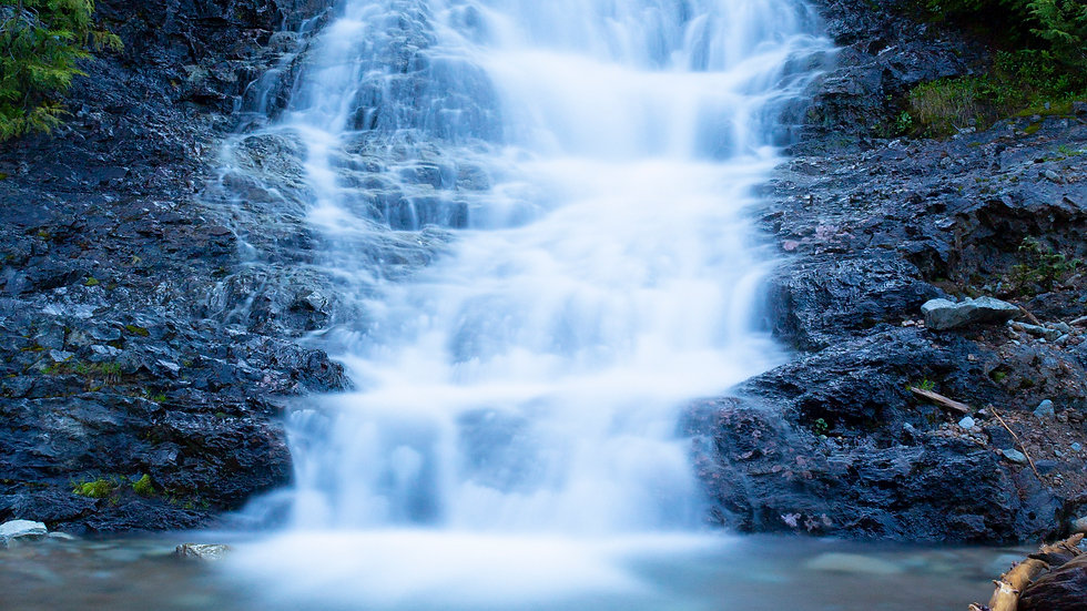 Waterfall in Washington Vertical