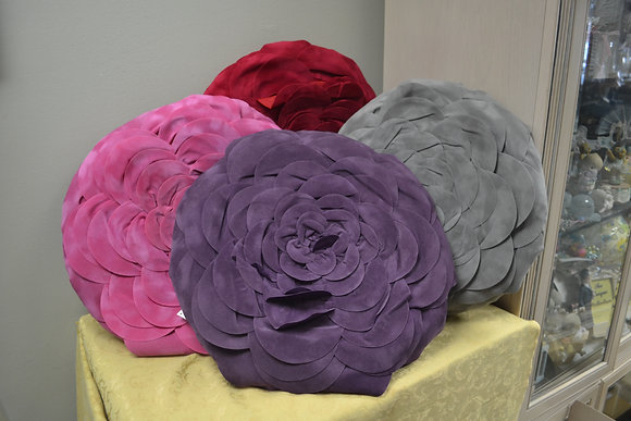 Microfibre Suede Flower Pillow