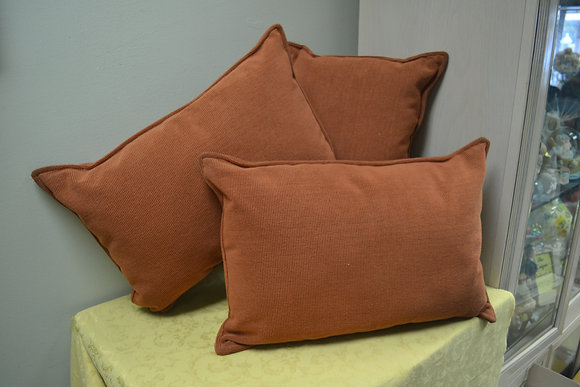 Orange Brown Pillows