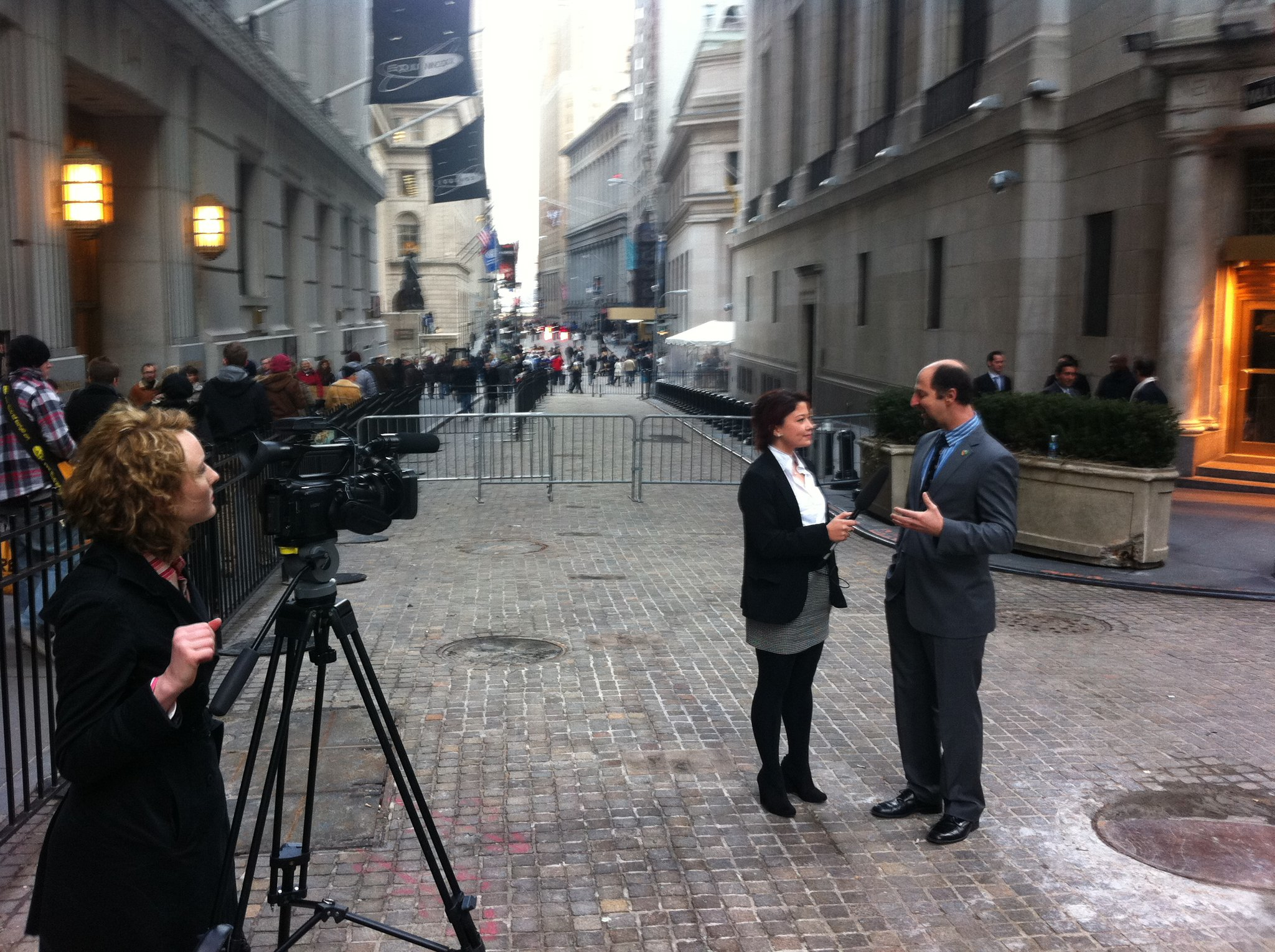 Filming at New York Stock Exchange