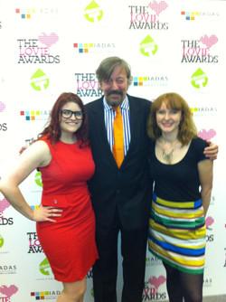 Lovies awards with Stephen Fry