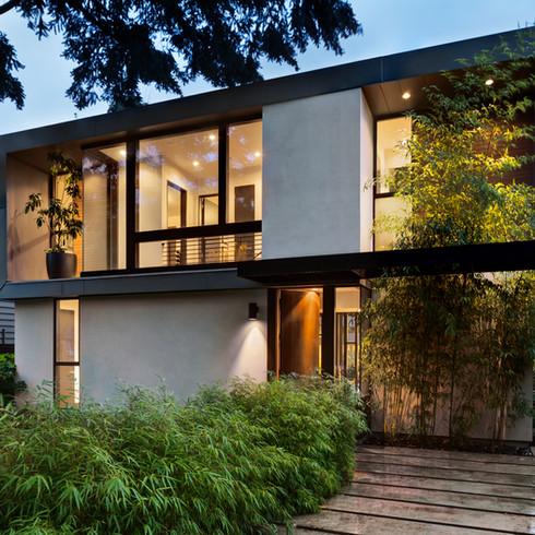 Aménagement Extérieur   Entrée végétale de maison design