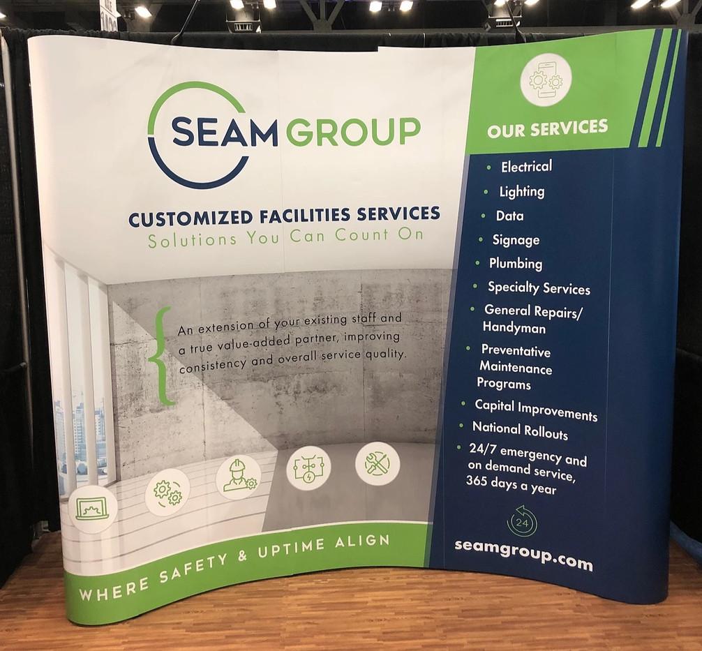 Seam Group Tradeshow Booth