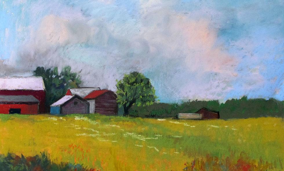 Yellow Fields, oil