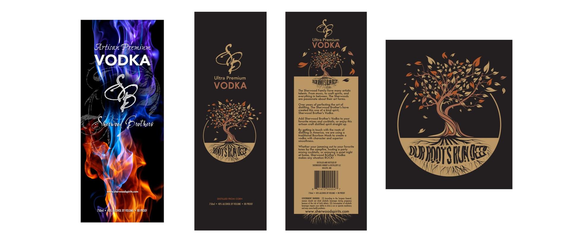 Sherwood Spirits Product Branding