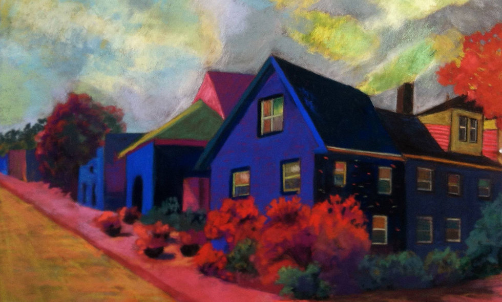 Blue House, Pink Walk
