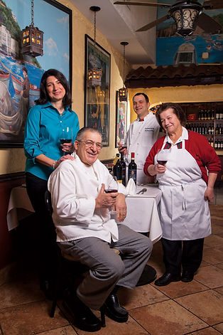 Trattoria Sorrento Family Photo c/o Skip Brown, Bethesda Magazine