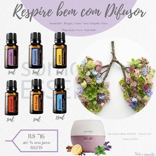 Kit Respire bem com Difusor