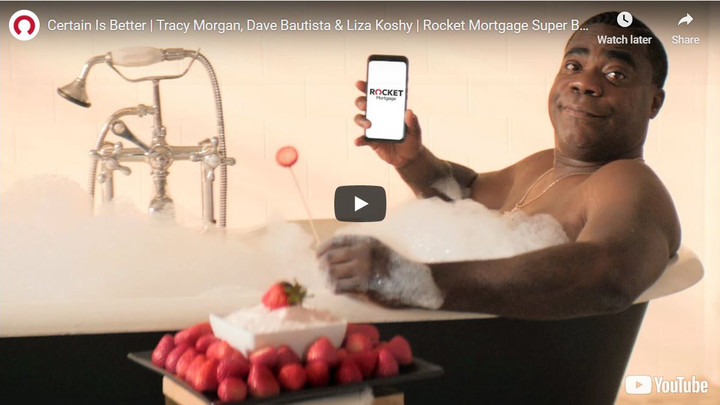 Rocket Mortgage and  Tracy Morgan just won the title of 'Most Hilarious Super Bowl LV Commercial'
