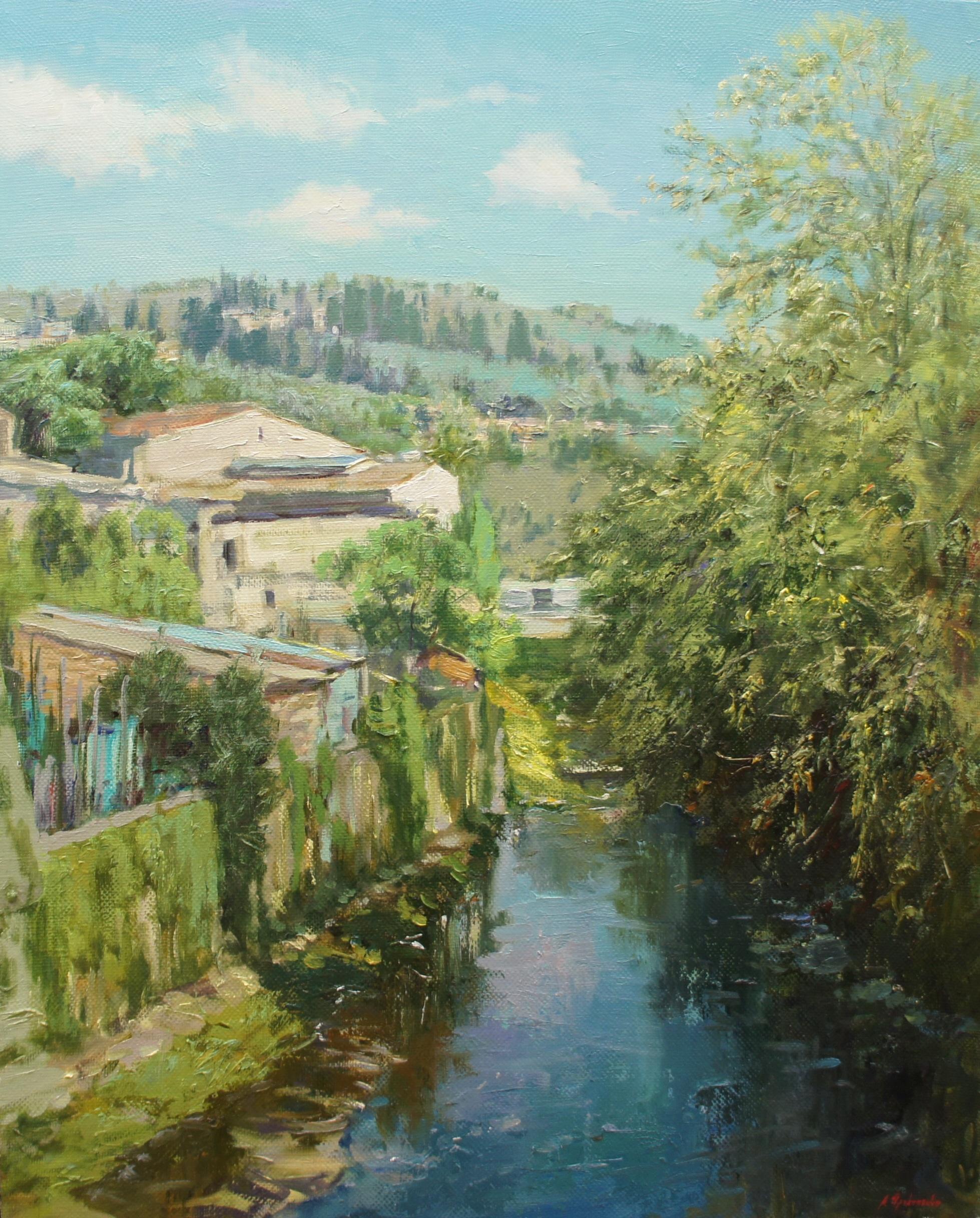 ,,Grassina. Italy,, х.м 80х65 2016г.