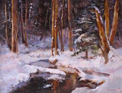 Лесные проталины х.м.20х30. 2007г.