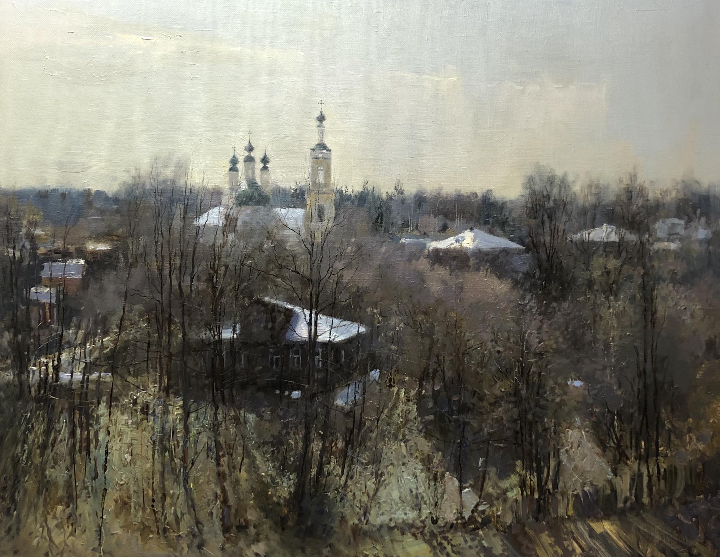 ,,Весна в Плёсе,, х.м 80х100 2020г.