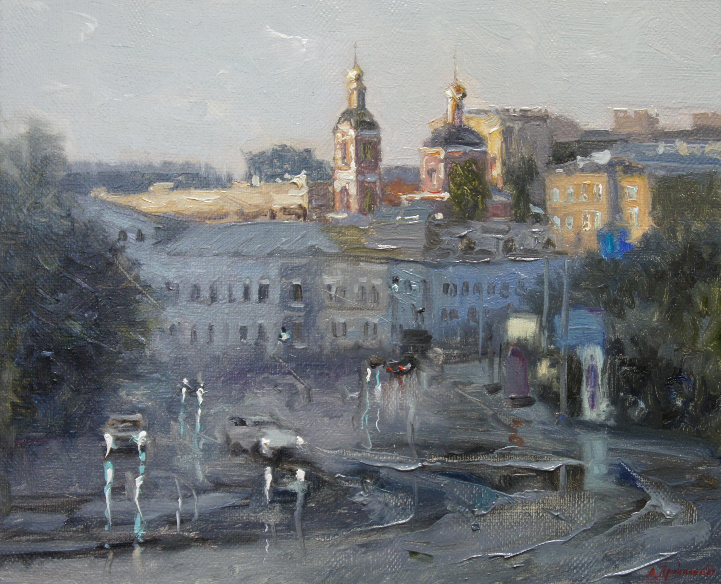 ,,Устьинский проезд. Москва,, х.м 24х30 2015г.