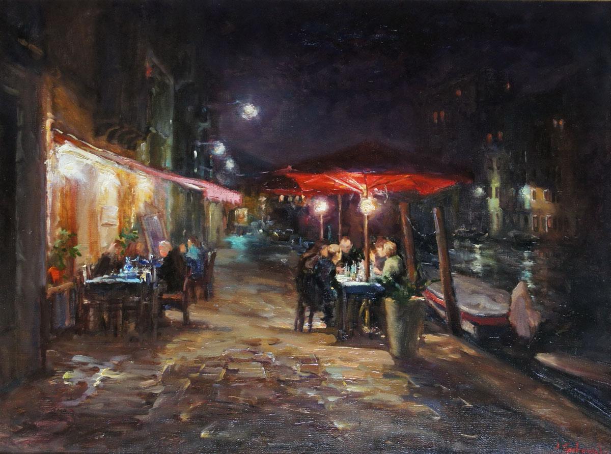 ,,Кафе Венеции,, х.м 60х80 2012г.