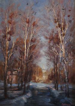 Весна в Константиново х.м 35х50 2005г.